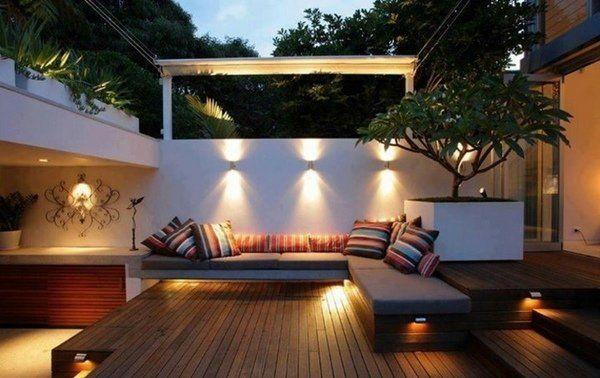 Modern Garden Lighting Ideas Awesome Led Landscape Lighting Courtyard Design Urban Garden Design Outdoor Rooms