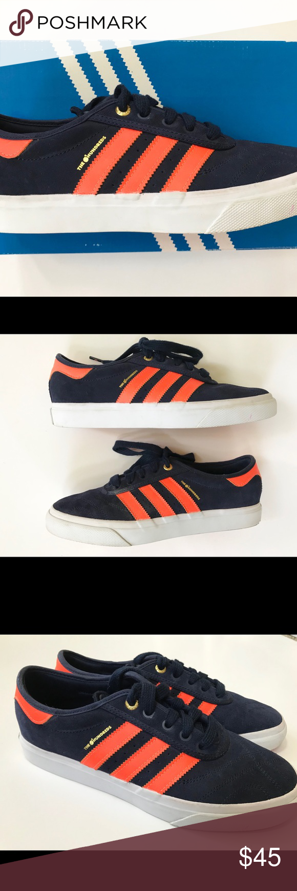 info for 249a3 6cff4 Adidas Adi-ease Hundreds Orange Crush Skate Shoes Adidas Adi-ease Hundreds  Skateboarding sneakers