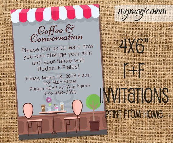Rodan fields coffee conversation invitation rf by mymagicmom rodan fields coffee conversation invitation rf by mymagicmom stopboris Choice Image