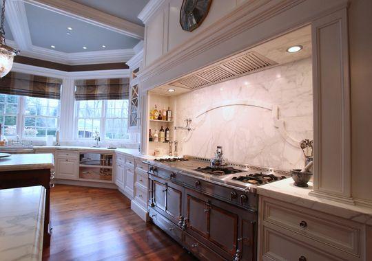 White Grand Kitchen For Stone Mansion