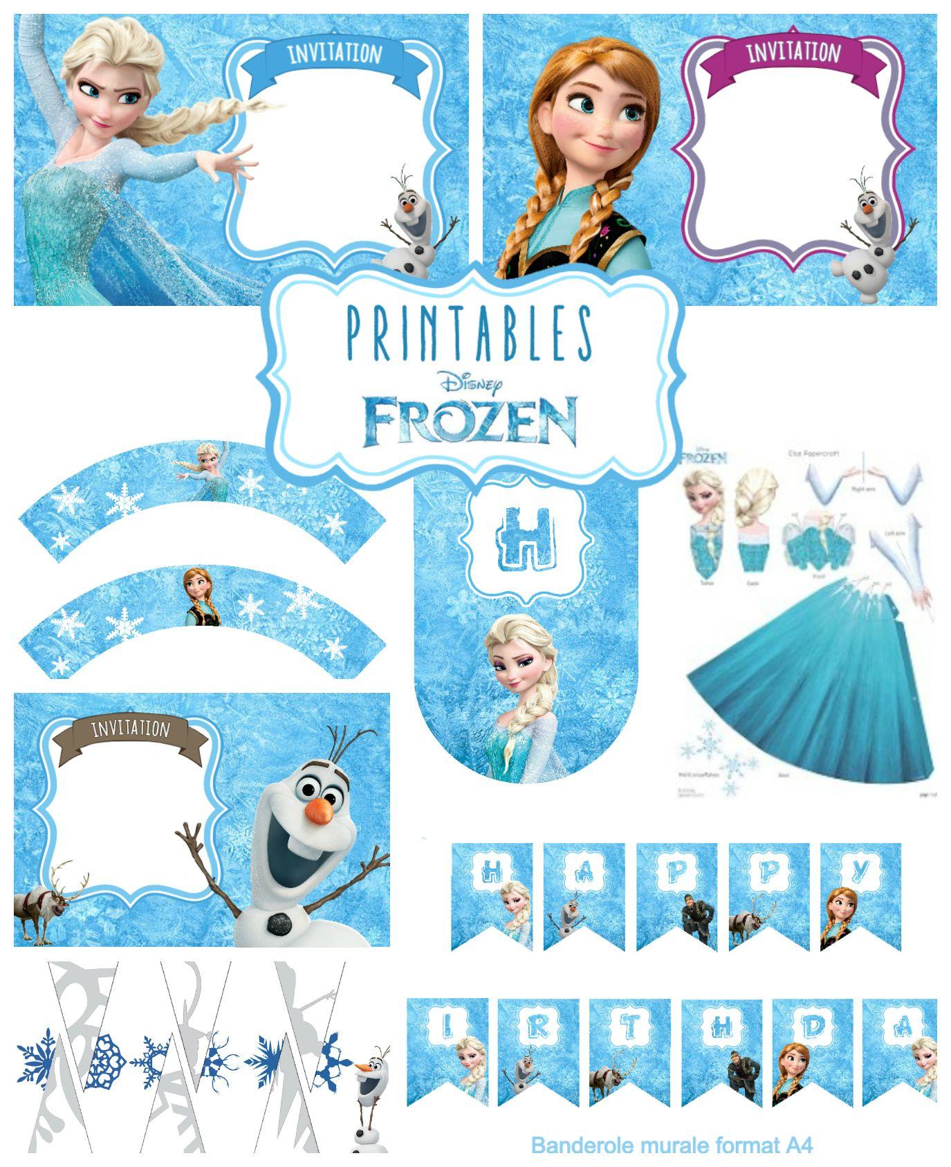 4 invitations anniversaire reine des neiges 123 cartes Idées pour la maison Pinterest
