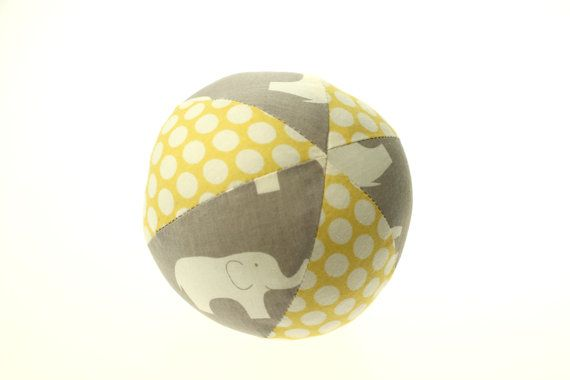 Yellow & Grey Mod Basics Elephant Small Cloth by LittleFreeRadical