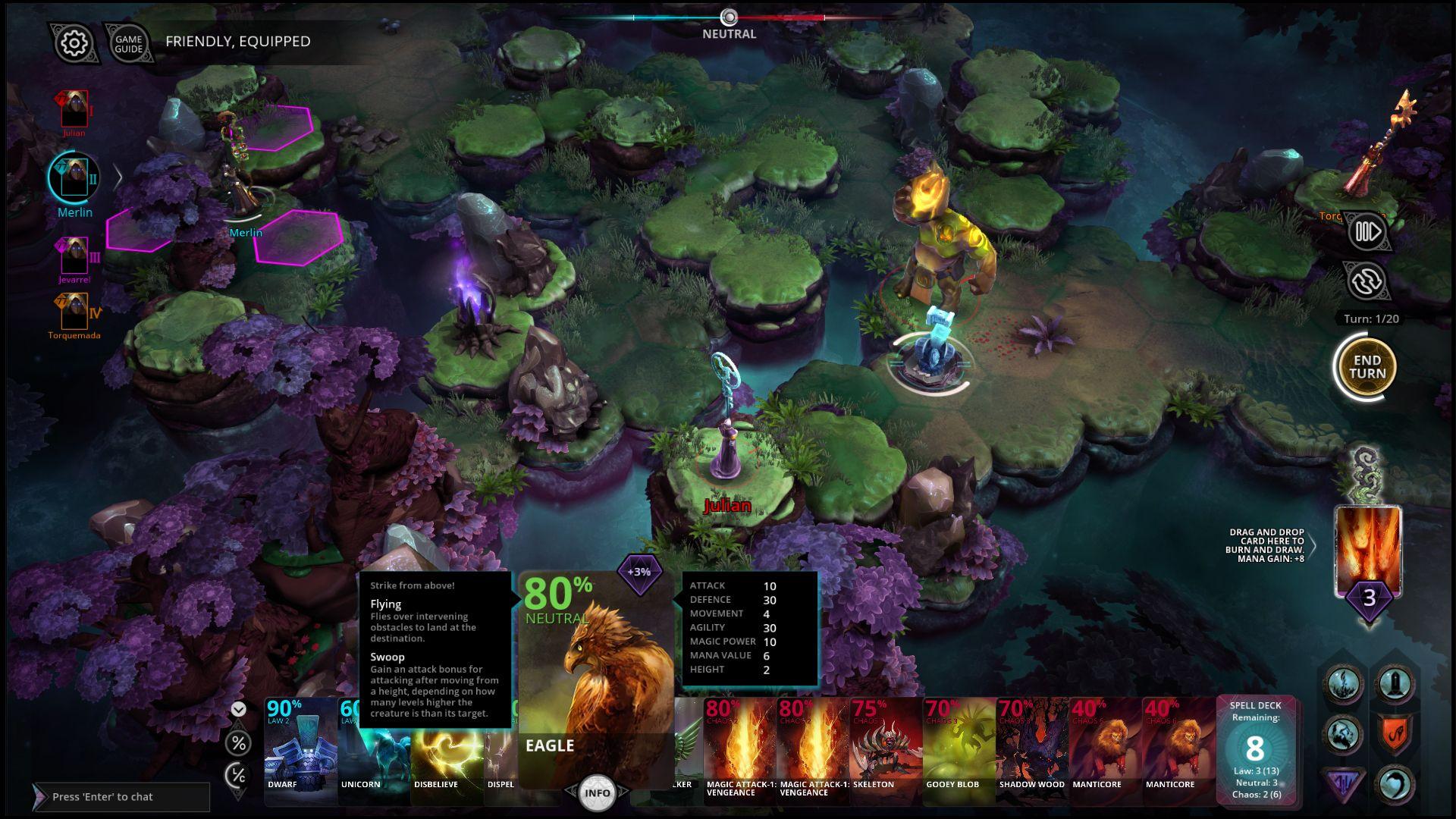 Chaos Reborn w serwisie Steam Hexagon game, Indie games