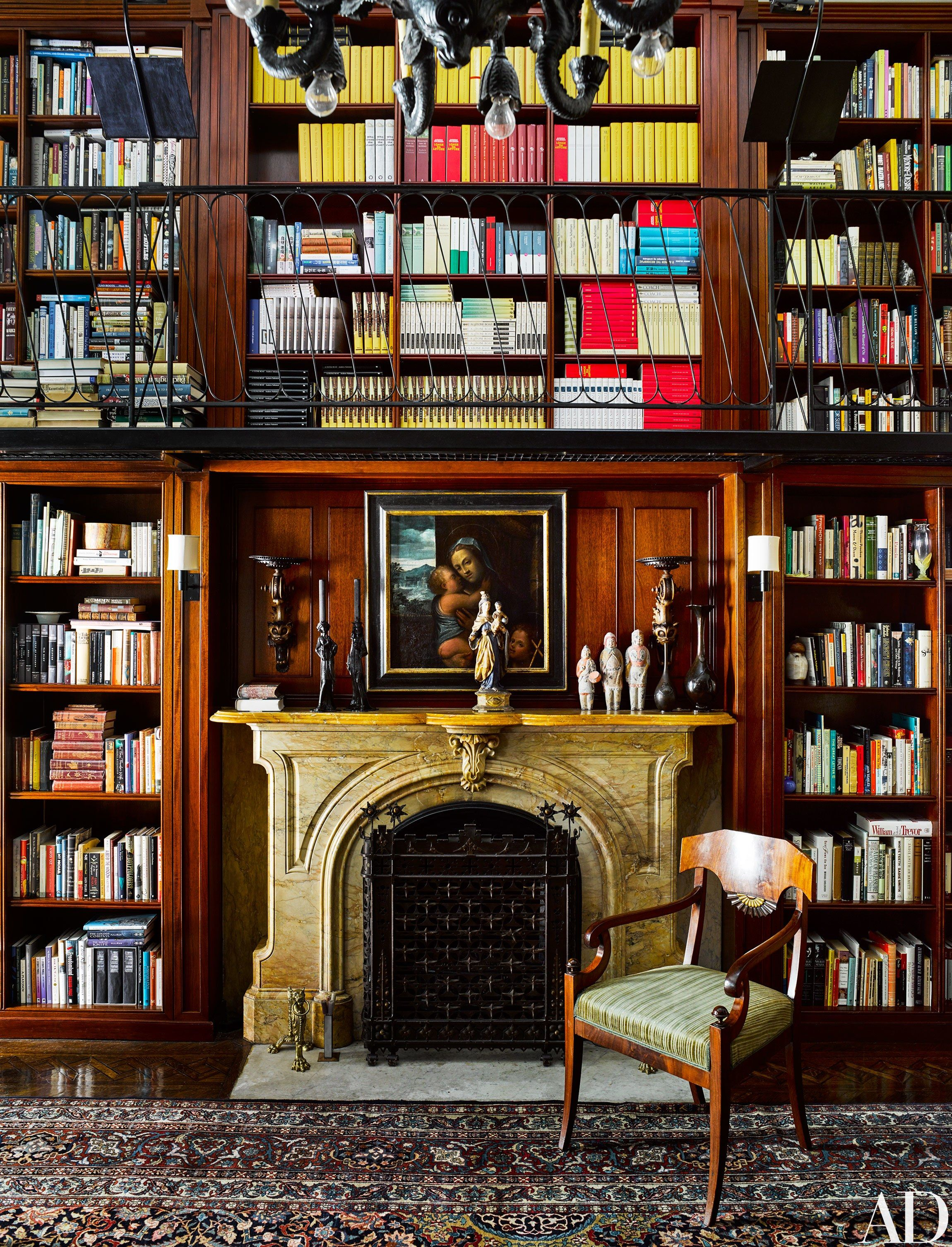 Classic Home Library Design: Robert Couturier Revitalizes Andrew Solomon's New York
