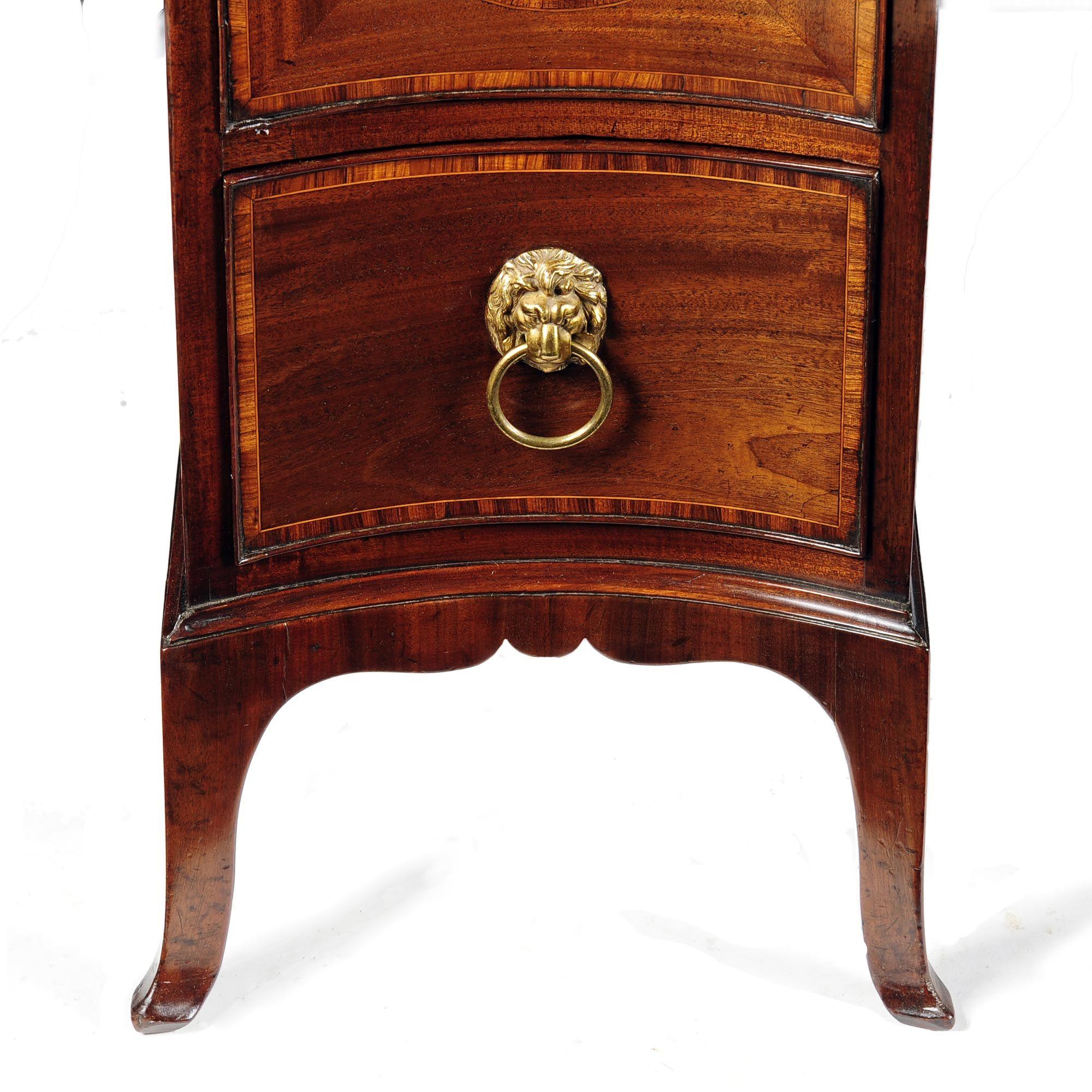 hepplewhite furniture   Hepplewhite period mahogany & tulipwood banded serpentine sideboard