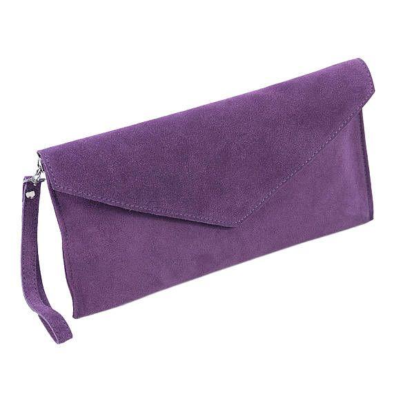 Lovely Suede Clutch Bags On Noths Multi Way Dress Purple