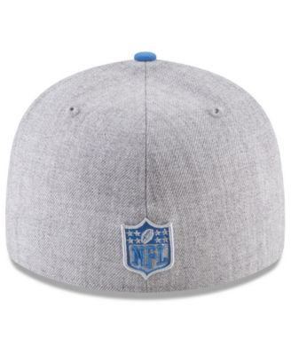 finest selection f291d 1de38 New Era Detroit Lions Draft Low Profile 59FIFTY Fitted Cap - Gray 7 1 8