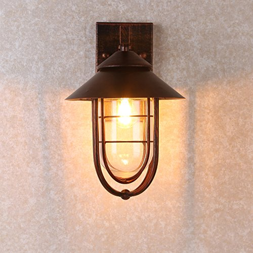 Metal Cage Outdoor Wall Light In Antique Copper Wall Lights Outdoor Wall Lighting Garden Wall Lights