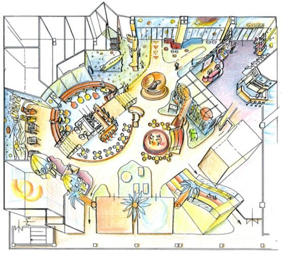 Playground floor plan and design for a shopping center in for Playground building plans