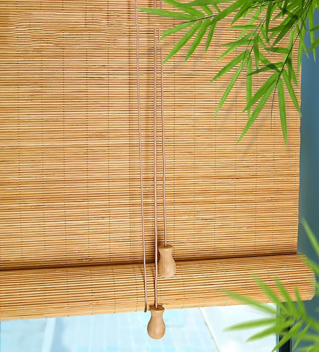 Amazon De Wufeng Bambus Roll Up Window Blind Bambusvorhang - Balkon Vorhang Amazon