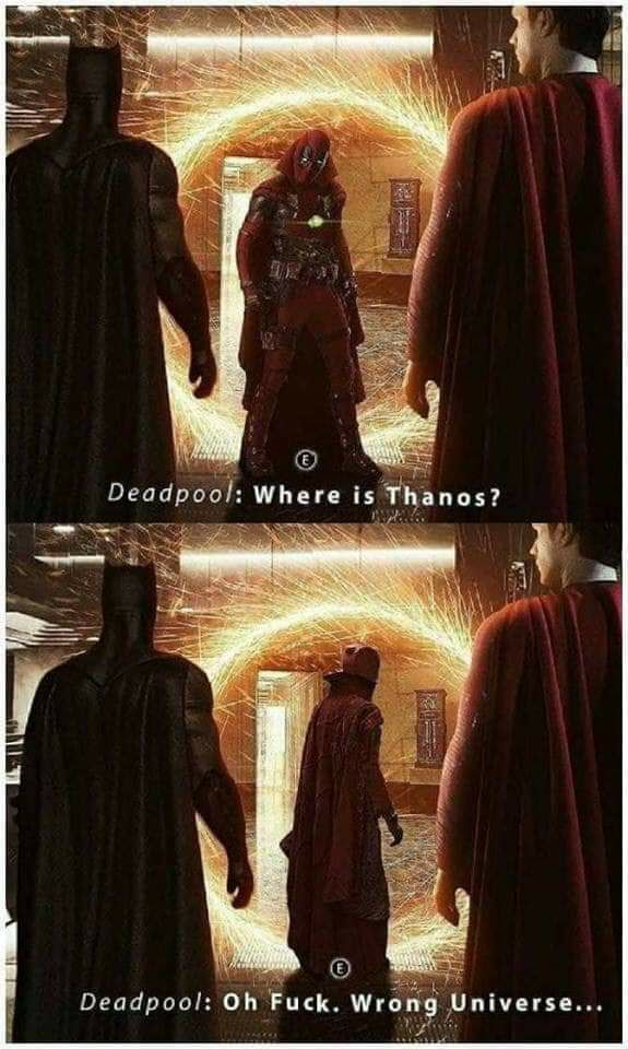 When deadpool accidentally entered in the wrong universe