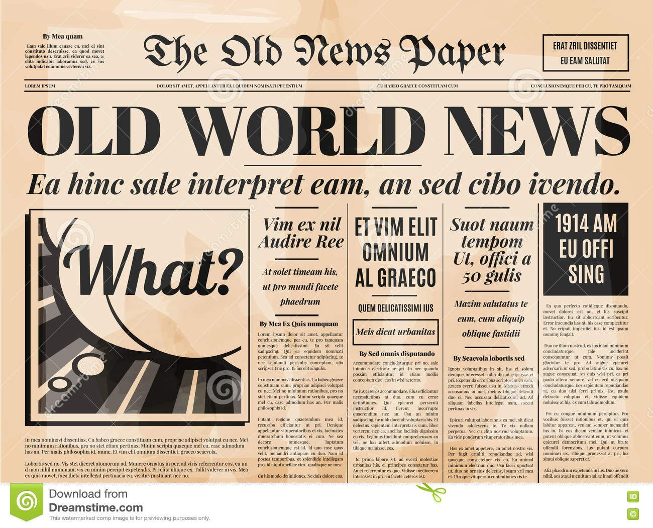 The Wonderful Old Newspaper Template Editable Word Free Download
