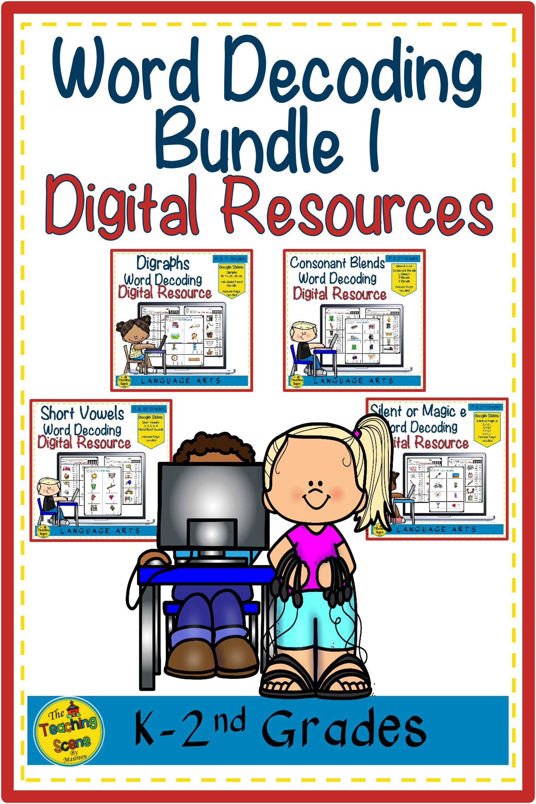 Digital Word Decoding Bundle 1 Short Vowels Digraphs