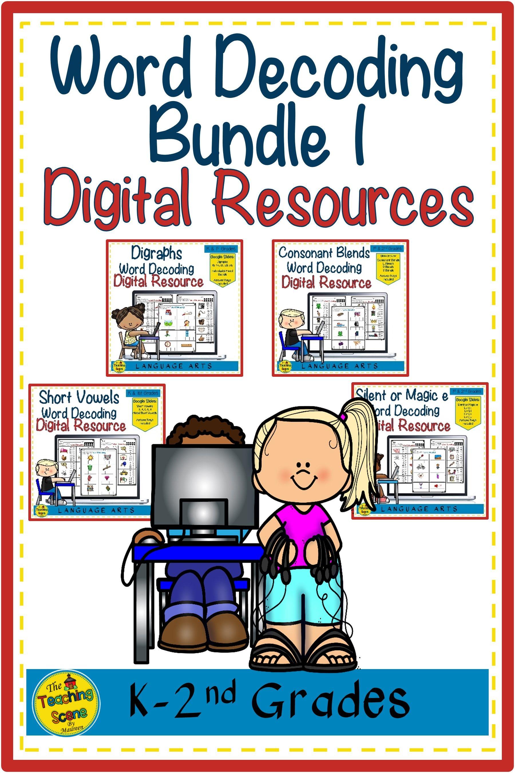 Digital Word Decoding Bundle 1 Short Vowels Digraphs