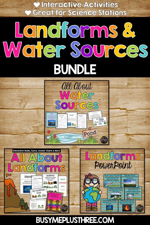 Fun Interactive Landforms And Water Sources Resource Bundle Fun Classroom Activities Flip Book Interactive Book [ 1440 x 960 Pixel ]