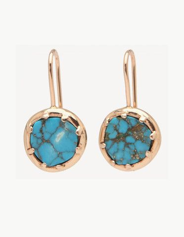 Kathryn Bentley Turquoise Organic Amulet Earring   Dream Collective