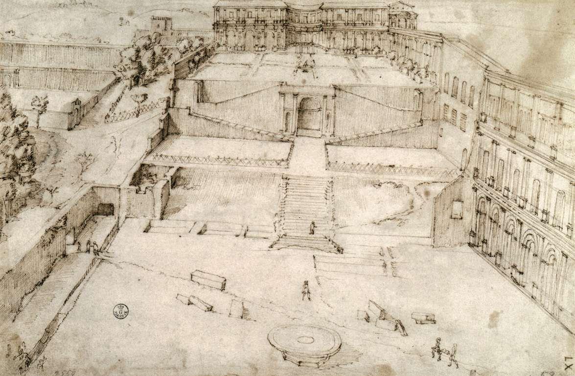 26 p rtico del belvedere 1506 julio ii le encargo que for Avvolgere le planimetrie del portico