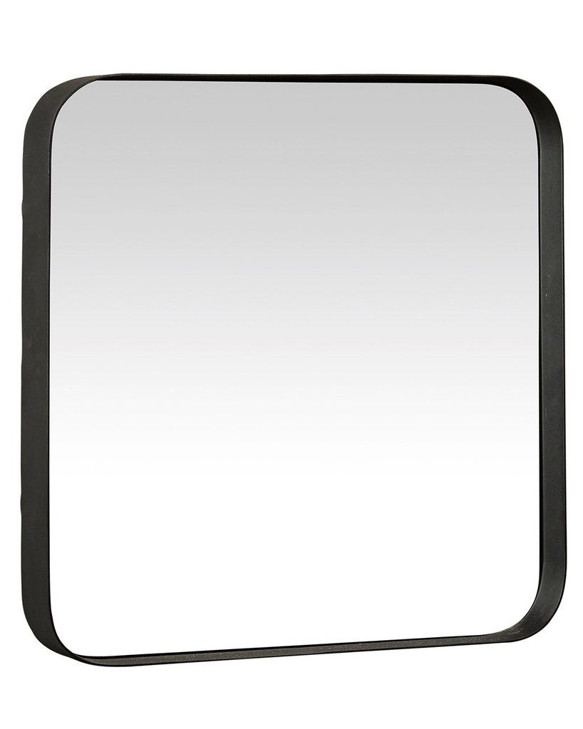 Kelly Black Framed Square Wall Mirror H 40cm Medium Mirrordeco Black Wall Mirror Black Mirror Frame Mirror Wall