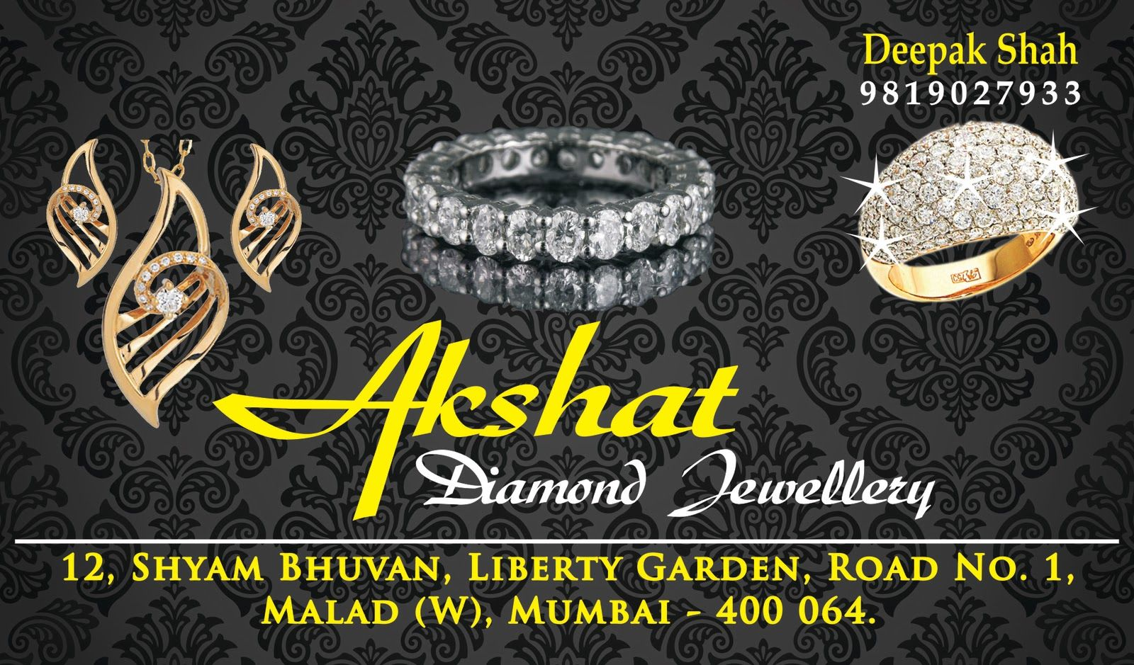 Creative Diamond Jewellery Business Card Design | Creative Diamond ...