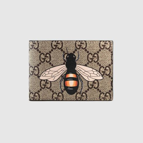 ea524620e70 GUCCI Bee Print Gg Supreme Wallet.  gucci  bags  leather  wallet  canvas   accessories