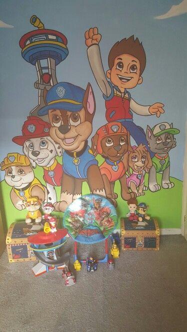Paw Patrol Wall Mural Paw Patrol Room Boys Room Mural Paw