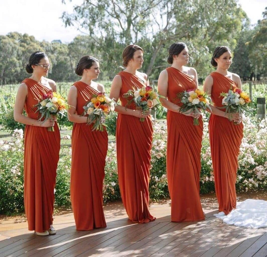 25 Perfete Fall Bridesmaid Dresses That Will Drop Jaws Perfete Fall Bridesmaid Dresses Orange Bridesmaid Dresses Fall Bridesmaids [ 986 x 1024 Pixel ]