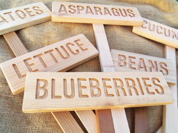 Garden Markers Set Of 7 Plain Signs Mix And Match Custom Pick And Save 5 Dollars Here Rustic Garden Signs All Natural Signs Garden Markers Garden Signs Rustic Gardens