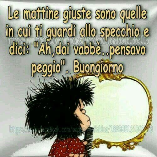 Le mattine giuste mafalda snoopy good morning for Vignette buongiorno divertenti