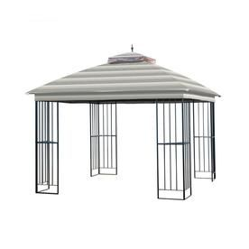 Garden Winds Replacement Canopy For Garden Treasures Steel Gazebo Standard 350 Stripe Stone Lcm1309st Steel Gazebo Gazebo Replacement Canopy Replacement Canopy