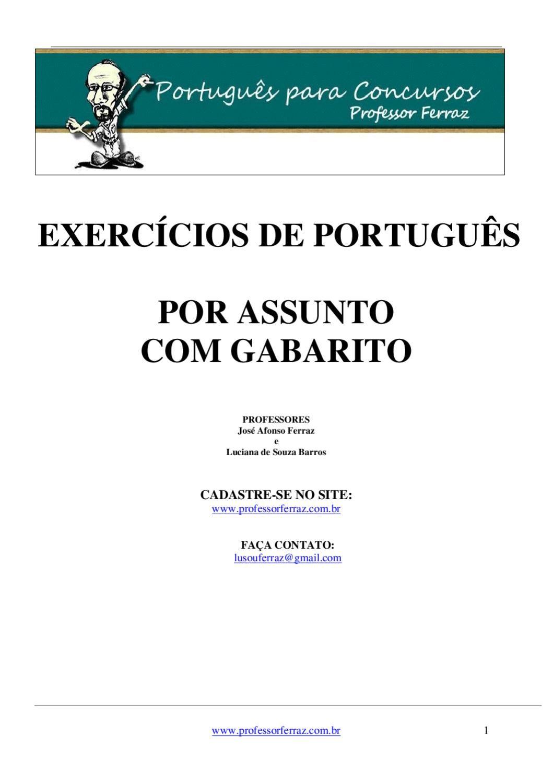 Apostila De Lingua Portuguesa Para Concursos Com Imagens