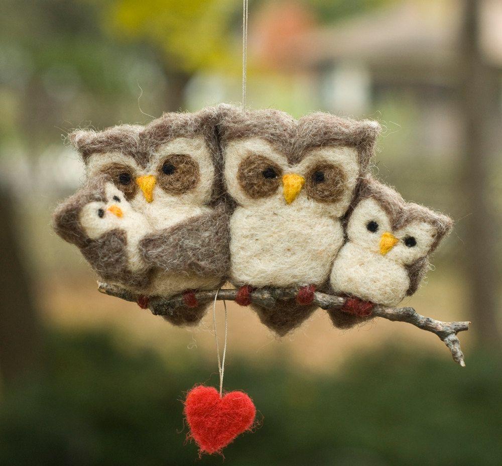 felt owl family