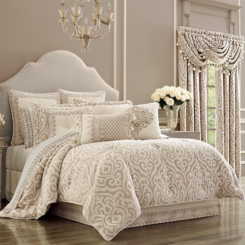 Milano Sand 4 Piece Comforter Set Comforter Sets King Comforter Sets Queen Comforter Sets