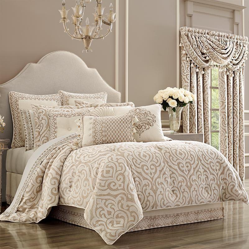 Milano Sand 4 Piece Comforter Set Comforter Sets Queen Comforter Sets King Comforter Sets