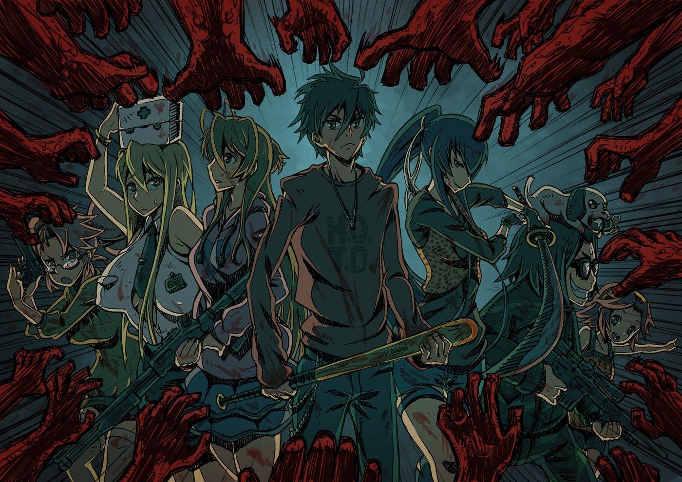 Anime 1400x990 Highschool of the Dead Komuro Takashi