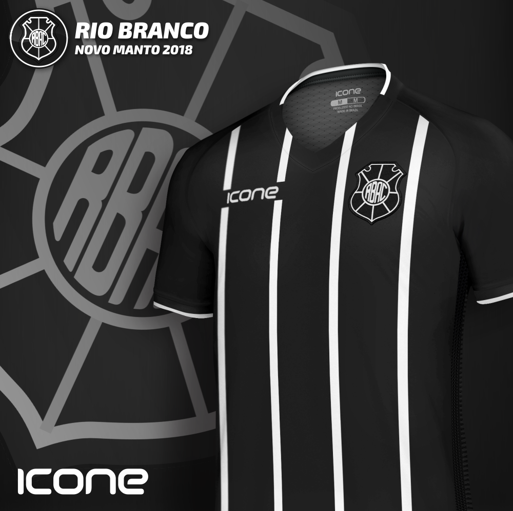 Uniforme 1 2018 da Rio Branco - ES. Produzida pela Icone Sports o melhor  material 68fd66e65911a