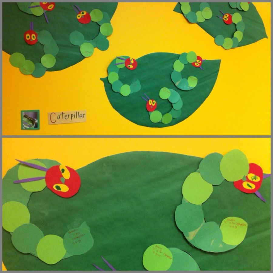 C is for Caterpillar. Preschool art. Brads to join them ...