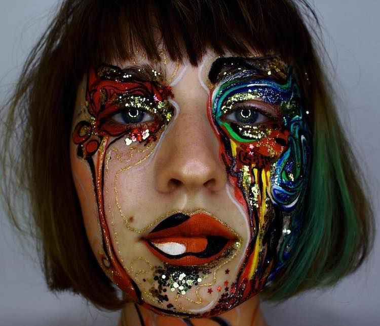 Makeup Artist Uses Human Face As Unconventional Canvas For Abstract Paintings Body Art Photography Makeup Artistry Makeup