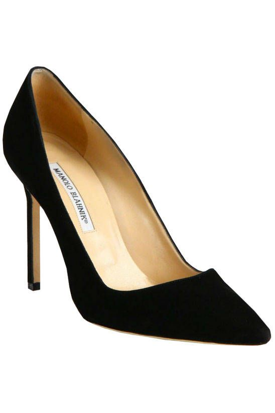 Whether you're a pump girl or more into a great flat, the key is that your go-to shoe is well-designed, versatile and timeless. Manolo Blahnik BB, $595, saksfifthavenue.com.   - HarpersBAZAAR.com