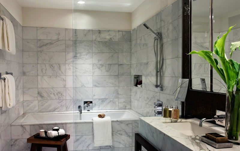 Luxury Modern Hospitality Boutique Interior Design Eventi Hotel New York City Premier Bathroom
