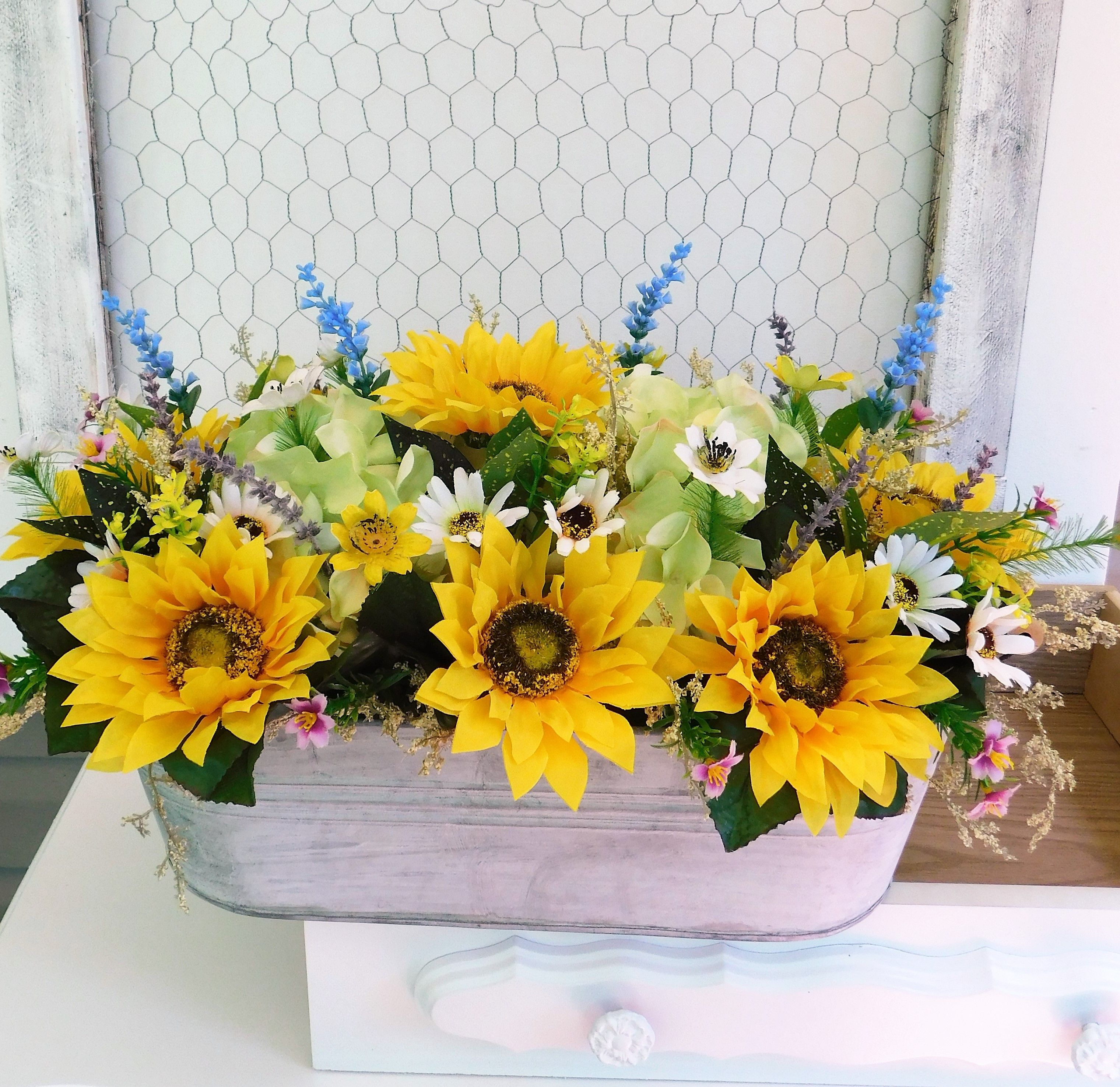 This Cheery Sunflower Arrangement Features The Following 9 Sunflowers, 2
