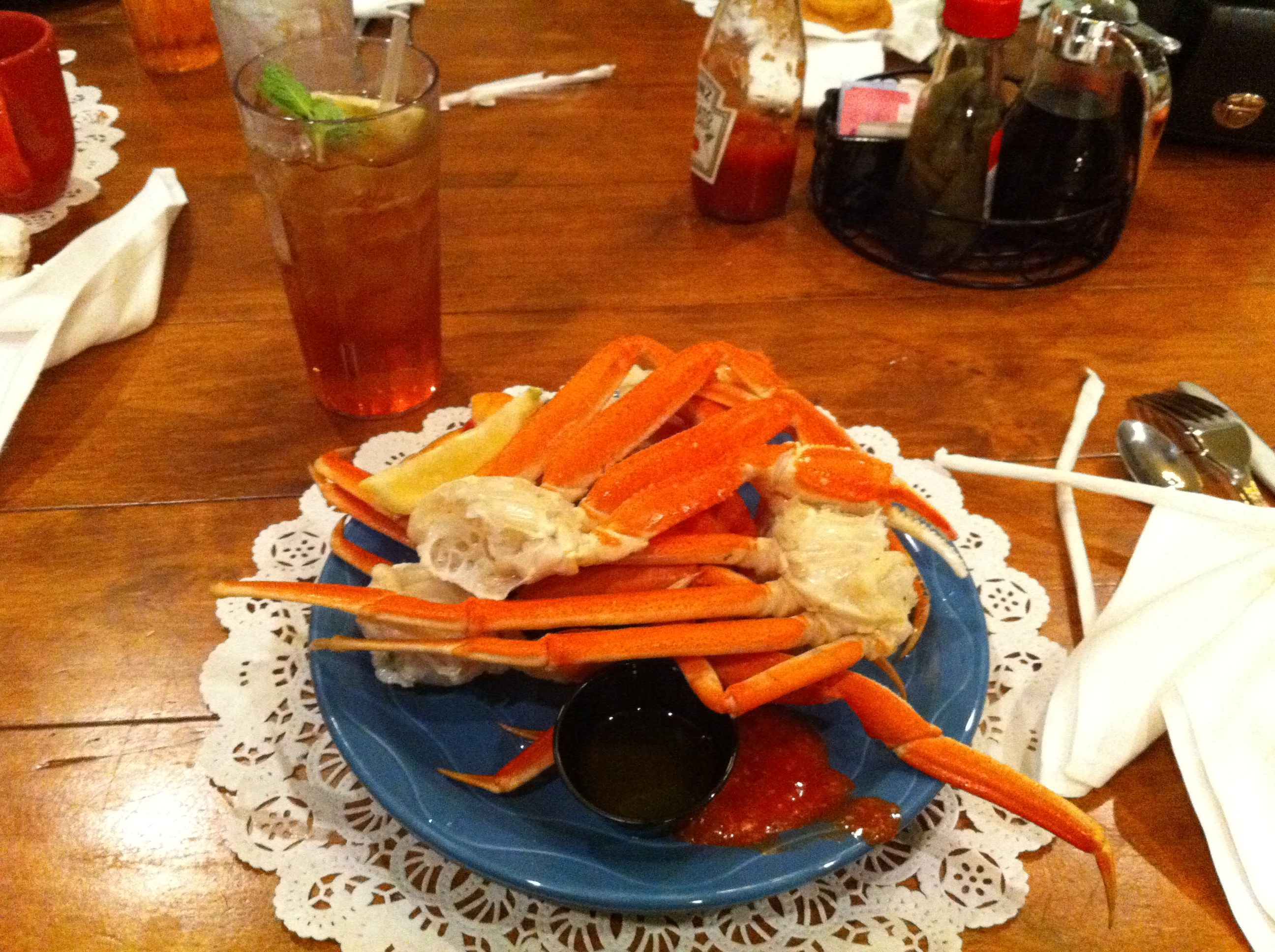 Crab Legs At Paula Deen S Restaurant In Tunica Ms
