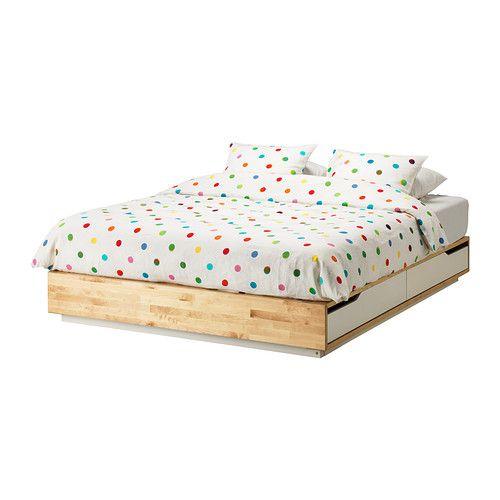 MANDAL Struttura letto con cassetti IKEA I quattro cassetti nella struttura del letto ti offrono tanto spazio. Coordinabile con la testiera MANDAL.