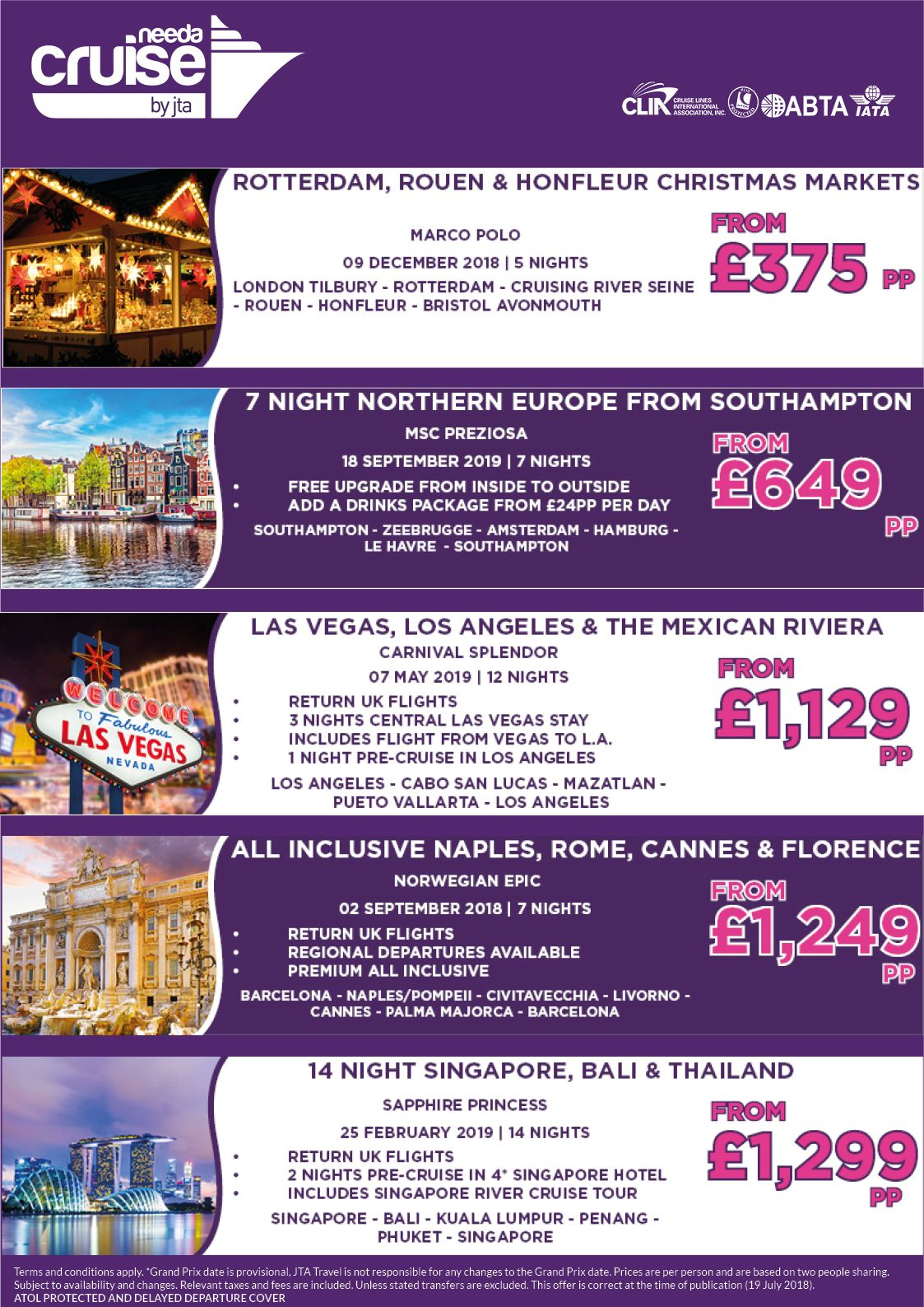 🚢This Weeks Top 10 Best Offers With Need A Cruise