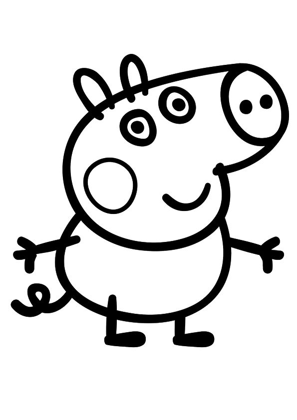 Print Coloring Image Momjunction A Community For Moms Peppa Pig Coloring Pages Peppa Pig Colouring Peppa Pig Drawing