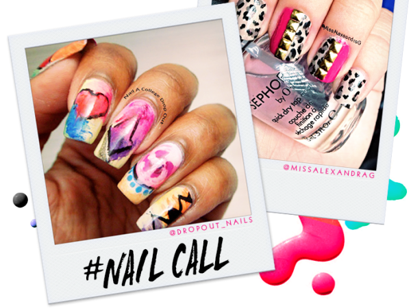 Photo of Tuesday's #NailCall: Accent Nails and Graffiti Designs