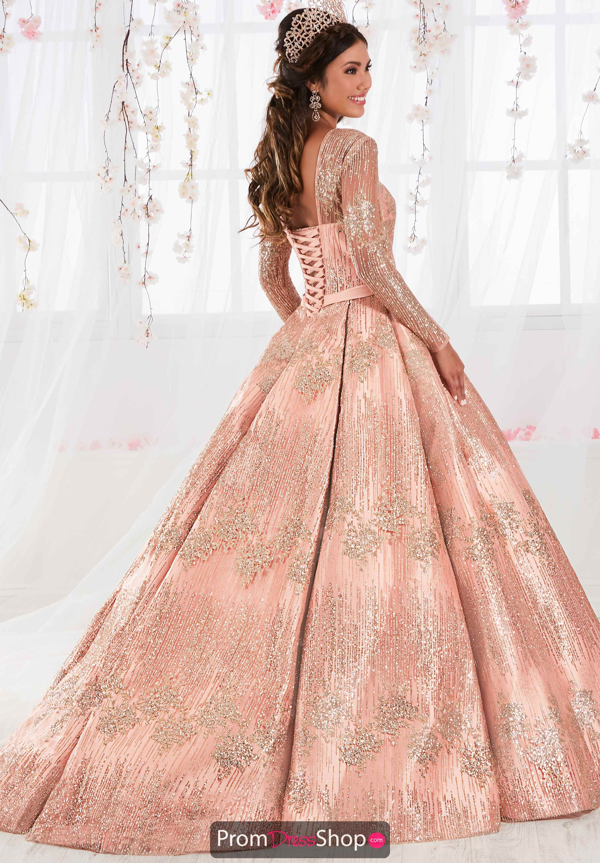 370f89bf827 Tiffany Quinceanera Beaded Sleeved Gown 26917 in 2019
