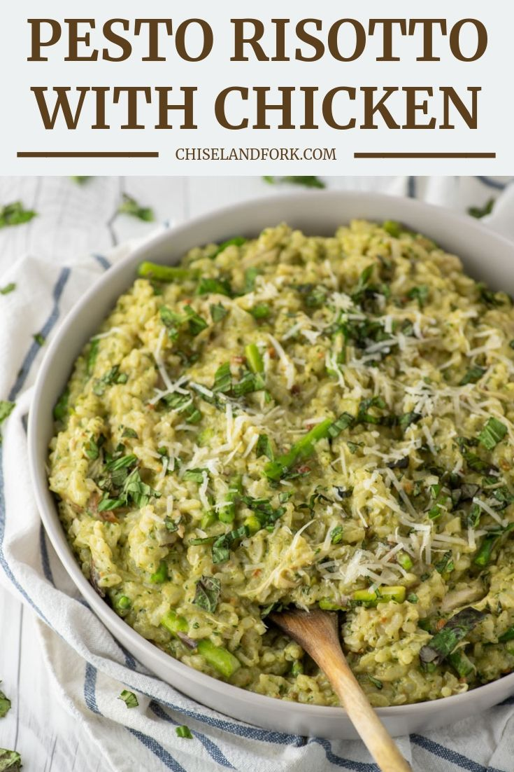 Photo of Pesto Risotto with Asparagus and Chicken – Chisel & Fork