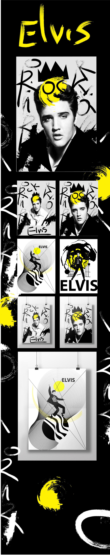 "Poster ""Elvis Presley"" on Behance"
