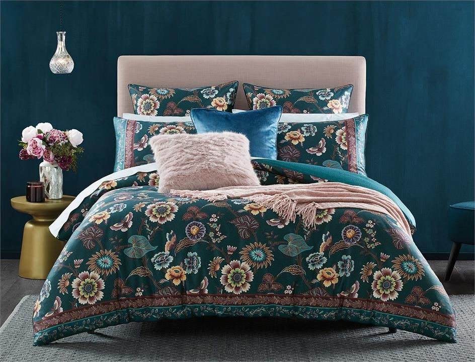 Batari Queen Quilt Cover Teal By Morgan And Finch Affordable