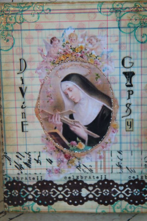 collage beeswax canvas-sold  Divine Gypsy